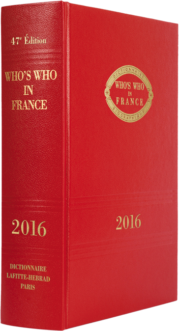 Livre Who's Who in France 2016